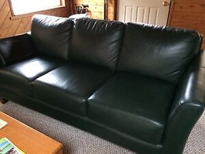 Leather couch green