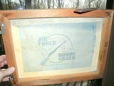 Vintage Air Force Bolling AFB Wash, DC. Framed Sign USAF