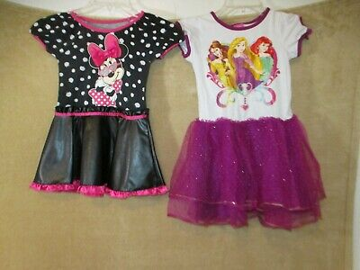 Lot of 2 girls Dress Disney Princess Disney outfit dress up size 24M, M - M&m Dress Up
