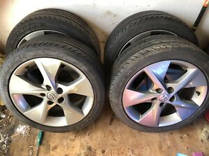 "18"" Toyota OEM rims with like new 225/45/R18 tires 900 OBO"