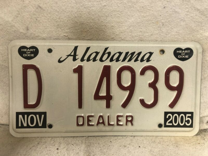 2005 Alabama Dealer License Plate