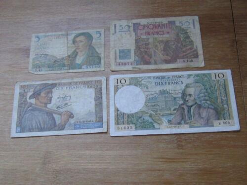 Lot of 4 World Paper Money #1483