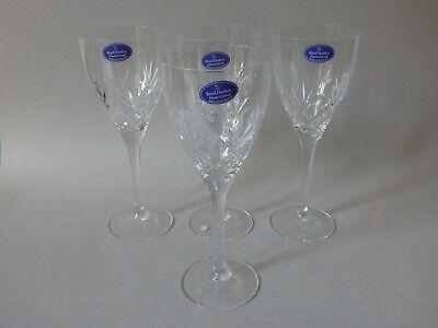 4 NEW ROYAL DOULTON CRYSTAL CUT LEAD GLASS WINE GLASSES BUY 2 GET 2 FREE UK (Buy Glasses Uk)