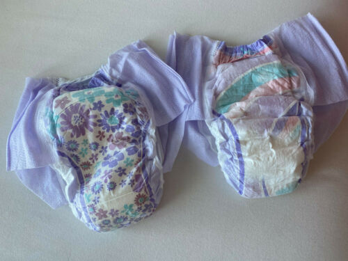Goodnites XL Diapers All NEW 2021 95 -140+ Ibs - GIRLS - Sample Pack of Two NEW!