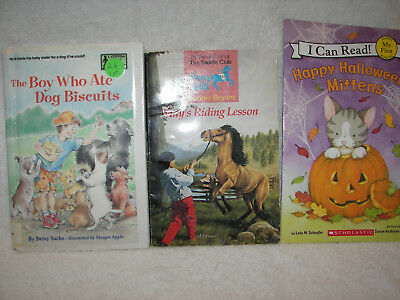 BOY WHO ATE DOG BISCUITS / Mays riding lessons /I can read happy Halloween 3](English Halloween Lesson)