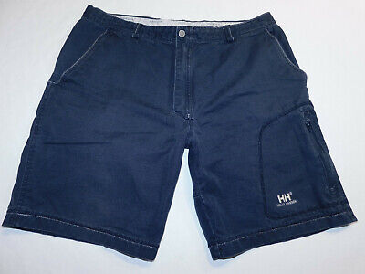 - HELLY HANSEN SHORTS ZIP LEG POCKET COTTON CANVAS NAVY MEN'S 36