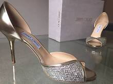 Jimmy Choo Luz 85 Open Toe Champagne Shoes - sizes 38.5 & 39.5 Randwick Eastern Suburbs Preview