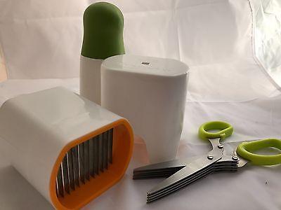 Kitchen Gift Set herb grinder/ chopper slicer / scissor FREE squirrel spoon  NEW