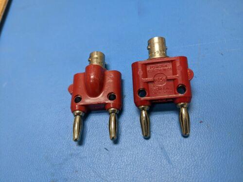 Pomona 1656 RED , BNC to Double Banana Plugs, 30VAC/60VD, Coaxial Adapter, 2 PCS