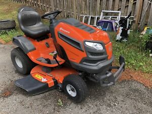 Husqvarna Lawn Tractor and Lawn or Parking Lot Sweeper