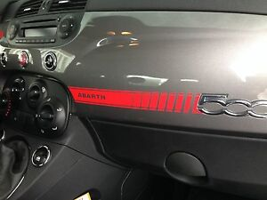 Fiat 500 Abarth Vinyl Dashboard Dash Decal Bonus Mini Scorpion