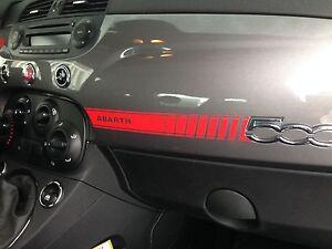 Fiat 500 Abarth Vinyl Dashboard Dash Decal + Bonus Mini Scorpion