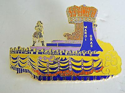 "1978 Louisiana Jaycees Pin Krewe of REX Mardi Gras King's Float 3 1/2"" by 2 1/2"""