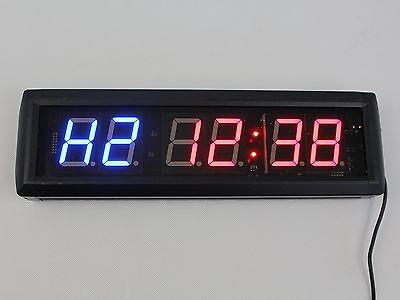 """Crossfit  Interval Timer Wall Clock w/Remote Training Garage WOD 14""""x4""""x1.5"""" GYM"""