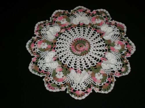 New Handmade Crocheted Doily Flowers & Butterflies Pineapples