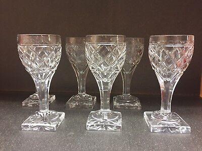 6 verres à vin en cristal Ste Hélène taille losange.H: 135 mm Val St Lambert