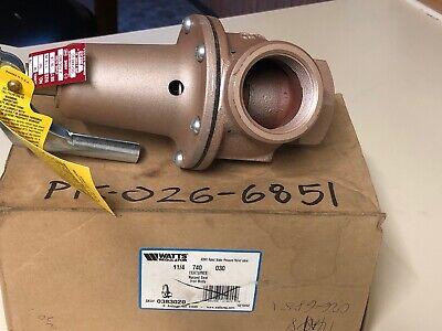 Watts Regulator 0383020 1-14 740 030 Water Pressure Relief Valve-new
