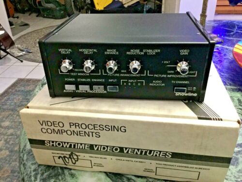 SHOWLINE 7020/ 4 Channel-Video/Stereo In/Out Video Enhancer~Processor~Stabilizer