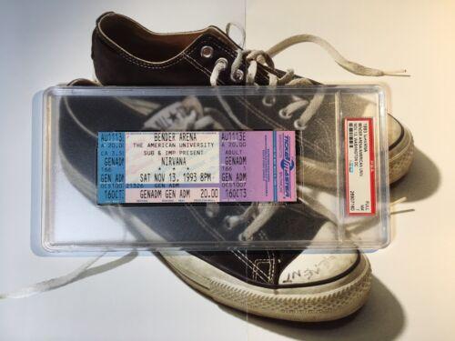 1993 Full Nirvana Concert Ticket Washington DC Kurt Cobain PSA 9