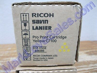 828385 Ricoh Savin Lanier C7100 C7110 Yellow Pro Print Cartridges