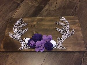 Deer antler string art wedding nursery decor