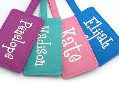 Personalised Name Fabric Luggage Tag, Kids Custom Name Luggage Tag, Travel Gift Kids Personalized Luggage