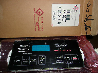 NEW GENUINE OEM WHIRLPOOL 6610267 RANGE & OVEN CONTROL ASSEMBLY SHIPS OUT FAST