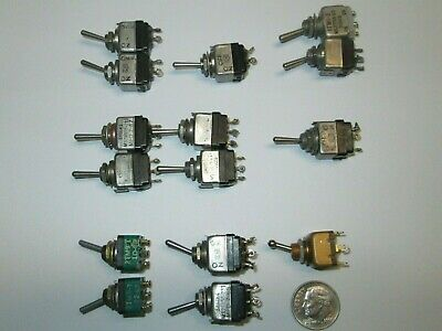 Mil-spec Toggle Switch Assortment 6 Types Choice 1 Each Used Good