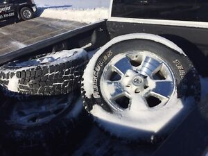 Winter mud and snow tires on Toyota Tacoma TRD Rims
