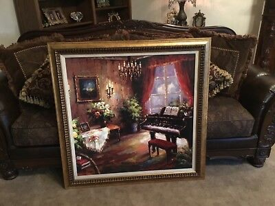 Beautiful X Large Textured Framed Picture