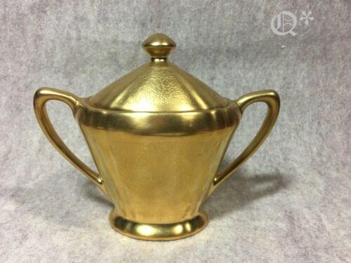 1930s Pickard Gold China  Sugar Bowl # 598