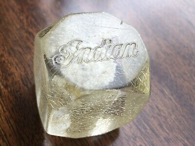 RARE Vintage Original INDIAN Motorcycle Clear Gear Shift Knob Indian Chief