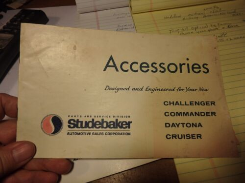 vintage STUDEBAKER bundle-1964 Accessories catalog/brochure