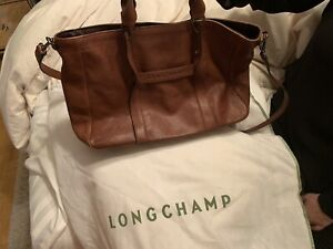 Leather Longchamp Tote Bag