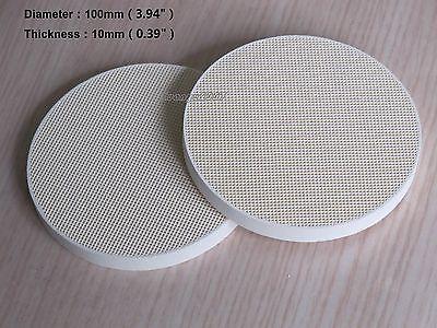 2 Pcs Soldering Board Ceramic Honeycomb Solder Board Heating 100mm 4