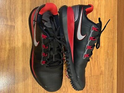 Nike Tiger Woods Tw14 2013 White Black Golf Shoes Size 8.5 532622-100