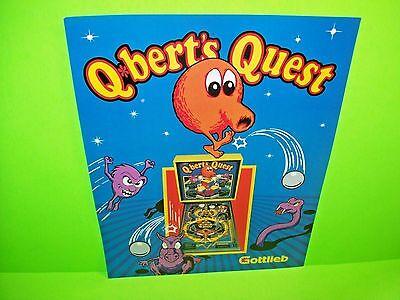 Q BERTS QUEST Pinball Machine Flyer 1983 Original GOTTLIEB Promo Artwork Q*BERT