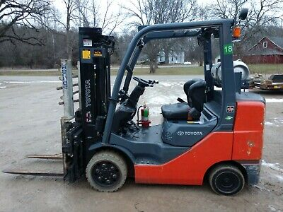 Nice 2012 Toyota 6000 Lb Lpg Forklift 8fgcu32 Side Shift Split Forks