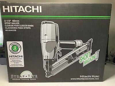Hitachi Nr65ak2s Strip Nailer Short Magazine 2 12 New In Box Nail Gun