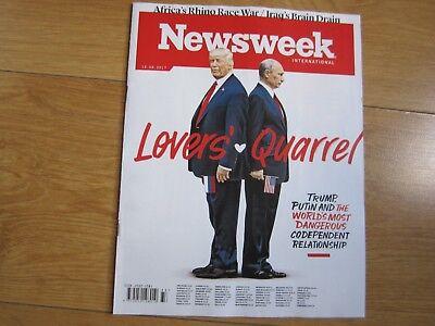 Newsweek Magazine August 2017 Donald Trump And Putin Lovers Loves Quarrel New.