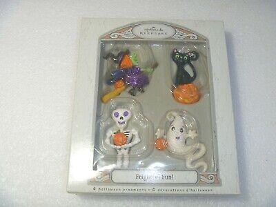 HALLOWEEN Hallmark Keepsake FRIGHTFUL FUN! 4 Ornaments Set 2007 RARE