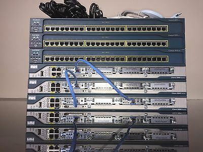 Cisco CCNA and CCNP Complete home lab kit 15.1 IOS  CME 8.6