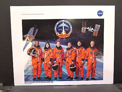 STS-133 CREW PHOTO SIGNED AUTOGRAPH ASTRONAUT Space Shuttle Discovery ISS