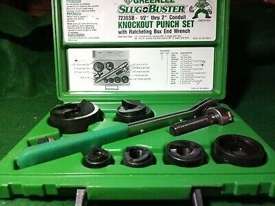 Greenlee 7238sb Slugbuster Knockout Punch Set Wrench Driver 12 - 2 W Case