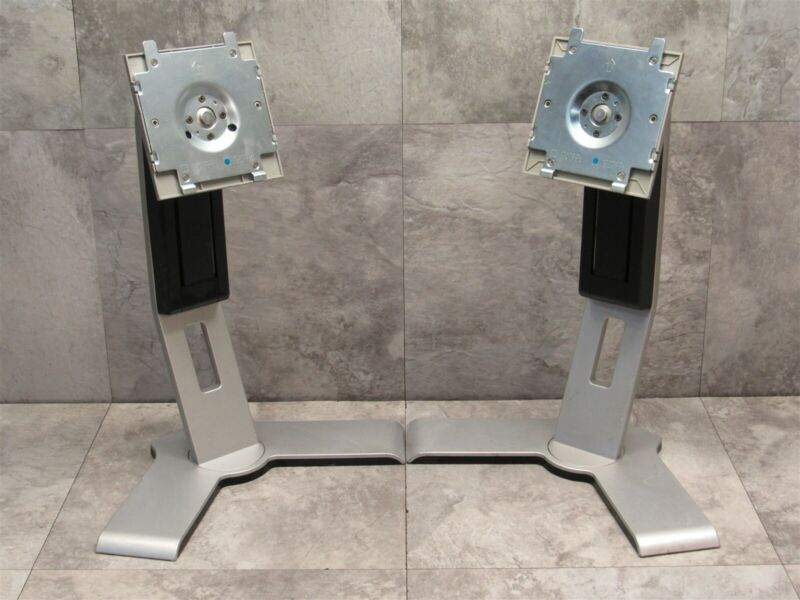 2 LOT - Dell UltraSharp Y-Base LCD Monitor Stand Tilt Swivel Rotate - SILVER
