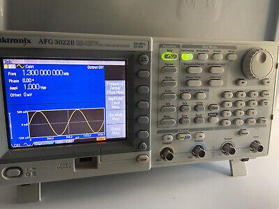 Tektronix Afg3022b Arbitrary Function Generator 25 Mhz 2 Channel