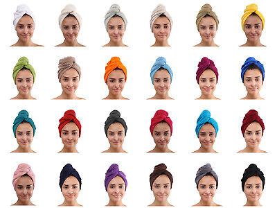 Frottee Haar Turban Kopfhandtuch Kopftuch Handtuch Haarpflege Haartrockentuch