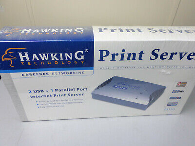 Hawking 3-Port (2 USB + 1 Parallel) Internet Print Server PS12U FACTORY SEALED Usb And 1 Parallel Port