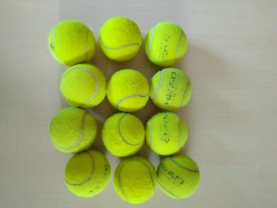 12 Used Tennis Balls - Mixed brands.