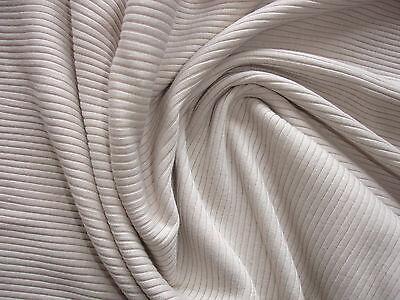 1 Lfm Jersey 3,80€/m²  Feinrippe Schlauchstoff beige Baumwolle  IE27